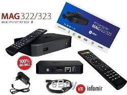 MAG 322 IPTV Player Multimedia Streamer Set-Top-Box HEVC H. 265 Infomir Original