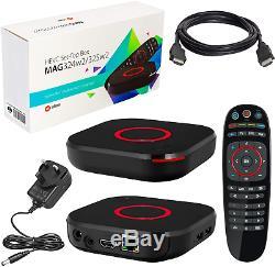 MAG 324w2 original Infomir & HB-DIGITAL IPTV SET TOP BOX Multimedia Player TV IP