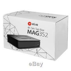 MAG 351/352 Linux 4K UHD WLAN WiFi integriert Streamer SET TOP BOX Internet IPTV