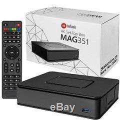 MAG 351 Set Top Box IPTV Linux 4K UHD Builtin Wifi MAG351