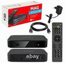 MAG 420 IPTV/OTT set-top box 4K Media l OFFER 99.99£ PLUG AND PLAY 12 MFSW