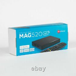 MAG 520w3 INFOMIR Built-in Dual Band Wi-Fi IPTV Set Top TV 4K with EU 2 pin Plug