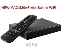 MAG 520w3 with Built-in Dual Band Wi-Fi Infomir IPTV Set Top TV Box 4K 420