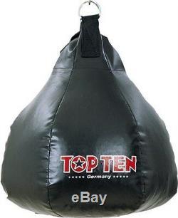 Maisbirne (schwarz/gefüllt) TOP TEN. Ca. 19Kg, Boxen, Kickboxen, Thaiboxen, MMA