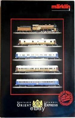 Märklin Nostalgie Istanbul Orient-Express Zugset mini-club Spur Z O-Box top+rar
