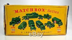 Matchbox 1-75 Serie G-5 Military Vehicle Set Gift-Set 1962 top in D Box