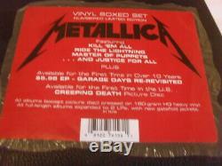 Metallica -limited Boxed Set- Awesome Mega Rare Ltd Edition Massive 10 Vinyl Top
