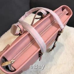 Michael Kors 100% Jet Set Travel Saffiano Leather Top Zip Tote Pink Boxed