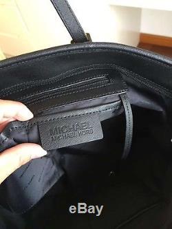 Michael Kors 100% Jet Set Travel Top Zip Tote LARGE Black Boxed