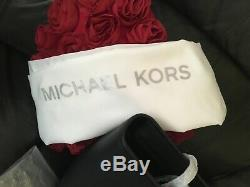 Michael Kors 100% Jet Set Travel Top Zip Tote LARGE Black New & Tags