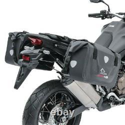 Motorcycle Saddlebags RB25 Set + Aluminium top box XB55 Bagtecs Waterproof blk