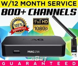 NEW MAG 256 IPTV Set-Top-Box with12 Month Service GUARANTEED FAST SHIPPING