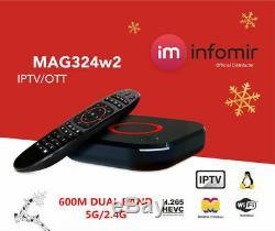 New Original Infomir MAG324W2 Mag 324W2 324 IPTV Set top box Builtin WIFI