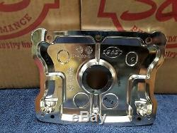 New S&S Cycle 90-4093-S Chrome Top Rocker Box Cover Set Harley Twin Cam BT