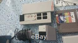 Nintendo NES Sports Set Console COMPLETE System Factory Box Top Loader 5 games