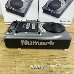 Numark Axis 4 DJ CD Decks Table Top Durable Steel x2 Loops BPM Counter Boxed Set