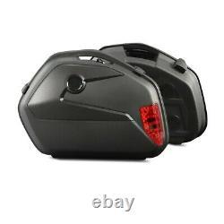 Panniers Set + Top Box for Honda CB 1000 R / 650 F SCT8 black