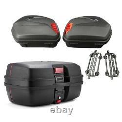 Panniers Set + Top Box for Yamaha MT-07 / Tracer 700 SCT8 black