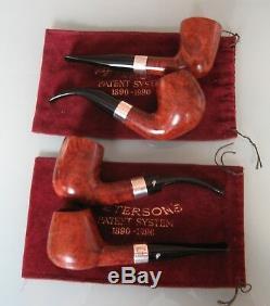 Peterson Great Explorer Set 4 Pfeifen wenig geraucht & top aufgearbeitet mit BOX