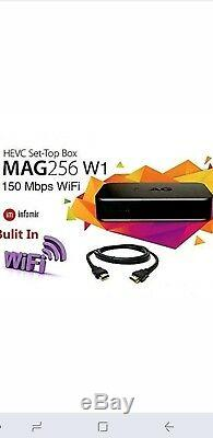 Plug and play MAG256w1 IPTV Set-top-Box Genuine OEM with 1 Year Subscription
