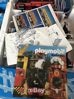 Rare Working 90s Playmobil Steam Train Set 4003 Boxed Top Condition