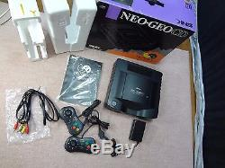 SNK NEO GEO CD Console System TOP LOADING box set Tested Work