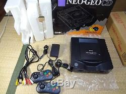 SNK NEO GEO CD Console System TOP LOADING box set Tested Work 3