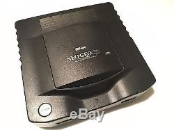 SNK NEO GEO CD Top Loading Console Serial Match BOXED WORKING 3 Game Set