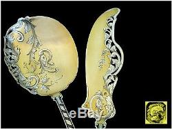 SOUFFLOT Top French All Sterling Silver Vermeil Ice Cream Set 2 pc withbox Rococo