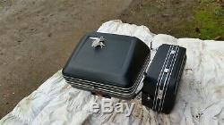 Schuh German Motorcycle Luggage Pannier Top Box & Rack Set & Keys Retro Bmw