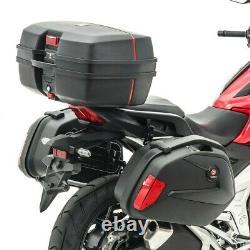 Set SCB8 Motorcycle panniers + rack + Top Box Bagtecs