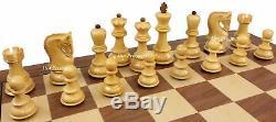 Sheesham RUSSIAN Opp Tops Staunton Wood Chess Men Set Flat Storage Box NO BOARD