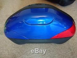 Suzuki DL1000 VStrom 2007 Pannier and top box set Blue