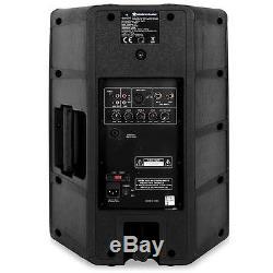 TOP AUNA PW-EV-12A AKTIV LAUTSPRECHER PAAR SET 2x MONITOR BOX 1100W ABS CHASSIS