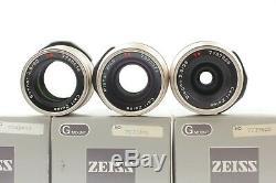 TOP MINT in BOX Contax 3Lens Set 28mm F/2.8 45mm F/2 90mm F/2.8 G1 G2 Japan