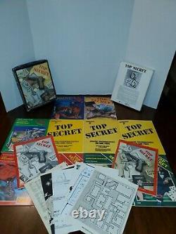 TOP SECRET Game RPG Box Set + TUNS OF EXTRAS TSR 7006 7601 Vintage 1980 RARE