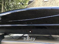 Thule Ocean 200 Car Roof Top Box 450 Litre Gloss Black Roofbox with set of bars