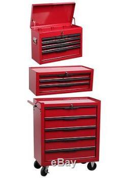 Tool box combination- roller cab mid box and top lock box set ball bearing slide