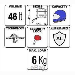 Top Box Set Givi KTM 990 Supermoto SM T 09-12 TRK46N Mkey black alu carrier