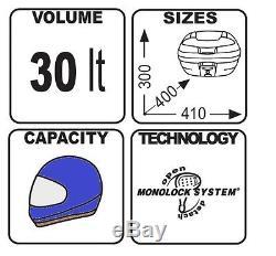 Top Box Set Givi Suzuki GSR 750 11-16 Monolock E300NT black