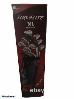 Top Flite XL 13 Piece Golf Set Mens Complete Set Stand Bag in Orig Box Free Ship