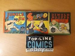Top-Line Comics Boxed Set (Whitman, 1935) Jungle Jim, Sappo, Dinglehoofer VG/FN