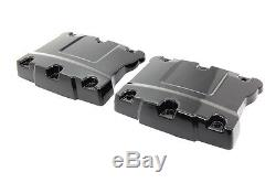 Top Rocker Box Black Cover Set, for Harley Davidson motorcycles, by V-Twin