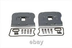 Top Rocker Box Cover Set Chrome for Harley Davidson by V-Twin