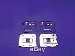 V-Twin 43-9170 Top Rocker Box Cover Set Chrome