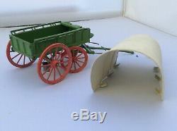 Vintage Britains Hard Top Prairie Schooner Set 2034 Boxed