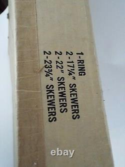 Weber Shish Kebab Set S-26 with Box(Damaged) Vintage Kettle Grill Top