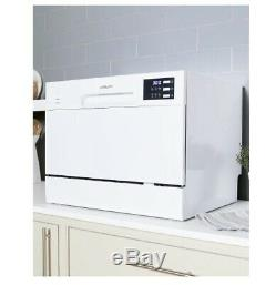White Ambiano Table Top Dishwasher, 6 settings, Mini Countertop BOXED + UNUSED
