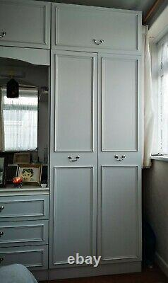 White modular Wardrobe Set with draws and top boxes easily separated six units