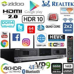 ZIDOO X20 2G DDR4 16G Realtek RTD1296 4K HDR Android TV Set Top Box Dual HDD NAS